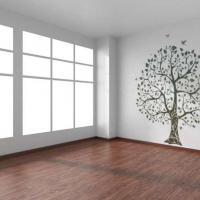 Pochoir mural motif arbre decoration murale originale