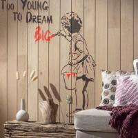 Pochoir mural street art fille you re never too young to dream big style pochoir