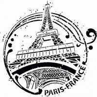 Pochoir paris tour eiffel moderne style pochoir mon artisane div45556