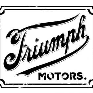 Pochoir triumph style vintage moto bikers effet use style pochoir