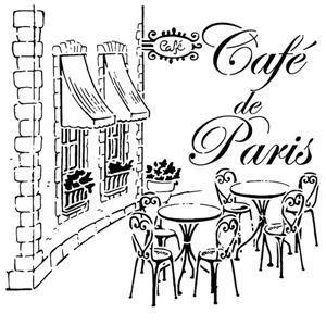 Pochoir vintage cafe de paris div64102