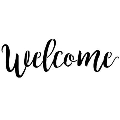 Pochoir welcome bienvenue mon artisane style pochoir