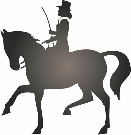 Spd226 cavalier cheval pochoir