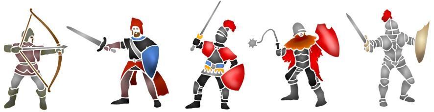 Spe061 frise de chevaliers