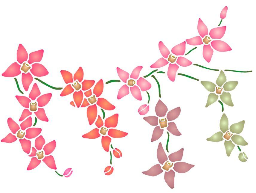 Spf033 retombee orchidees pochoir
