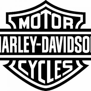 Sticker harley davidson logo