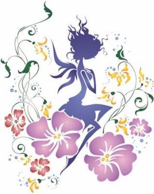 Stipo1215 pochoir fee fleur 4 style pochoir mon artisane