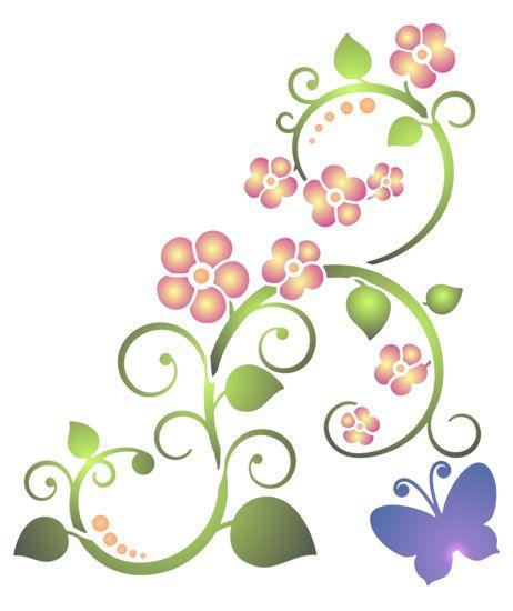 Stipo1319 fleurs et papillon coulp