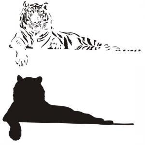 Stipo1445 pochoir tigre en 2 parties