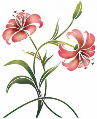 Stipo329 pochoir fleur de lys mon artisane style pochoir