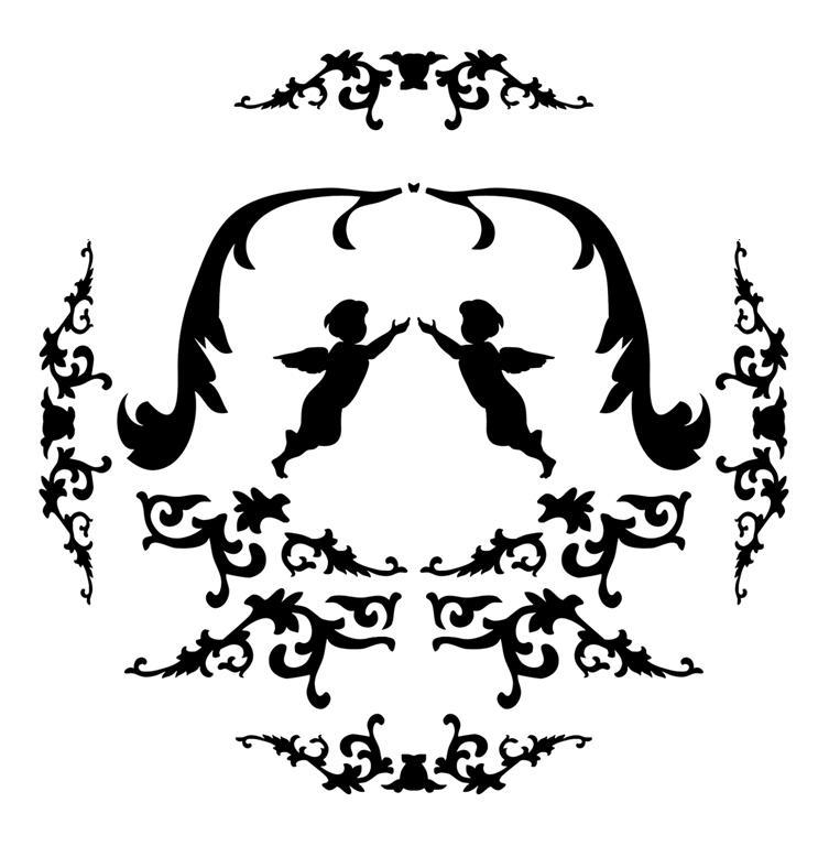 Stipo433 motif baroque anges