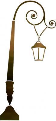 Stipo825 reverbere 1 lampe courbecouleur