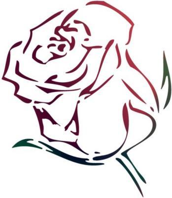 Stipo832 pochoir bouton de rose style pochoir mon artisane