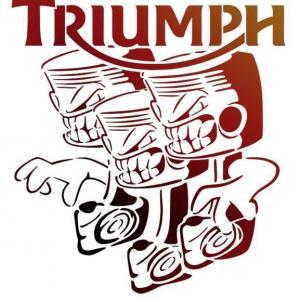 Tr3 triumph logo pochoir moto pistons a peindre