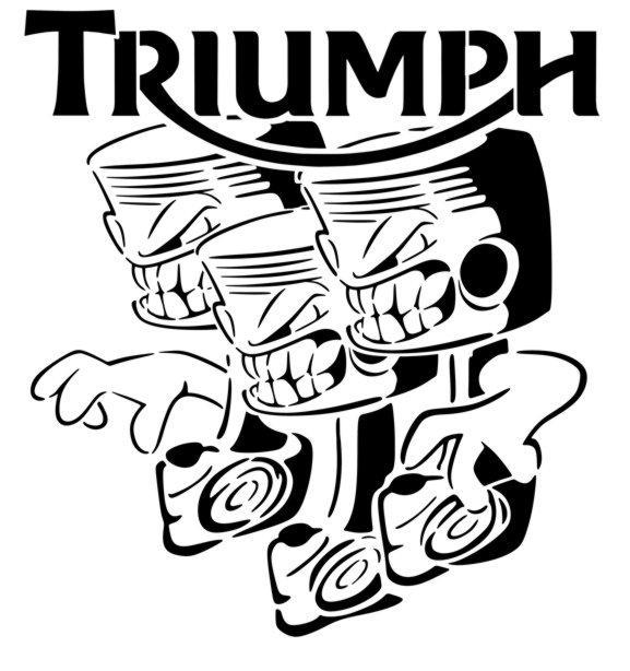 Tr3 triumph logo pochoir pistons p