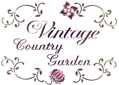 Vin23354 vintage country garden pochoir style pochoir mon artisane